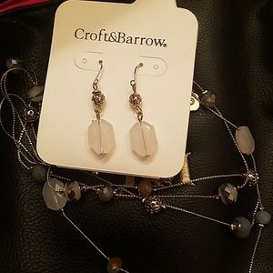 Croft and Barrow earrings and necklace